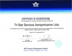CERTIFICATE OF ACCREDITATION 2014